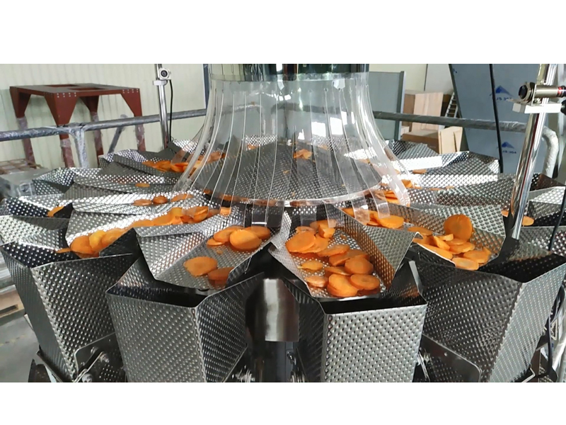 Carrot Slices Pillow PE Bags Packing Line